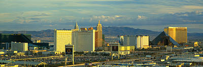 Afternoon The Strip Las Vegas Nv Usa Poster by Panoramic Images