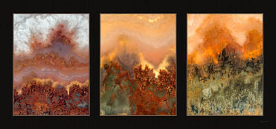 Agate Triptych 3 Poster