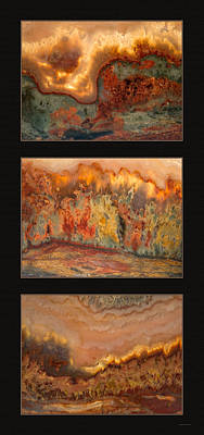Agate Triptych 7 Poster by Leland D Howard