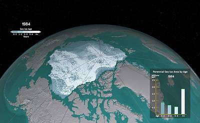 Age Distribution Of Annual Sea Ice Minimum Poster