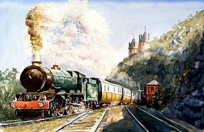 Poster featuring the painting Age Of Steam by Steven Ponsford