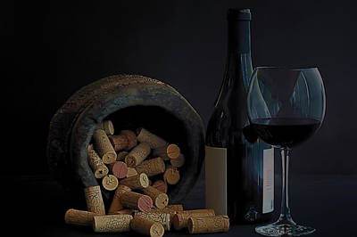 Poster featuring the photograph Aged Wine by Marwan Khoury