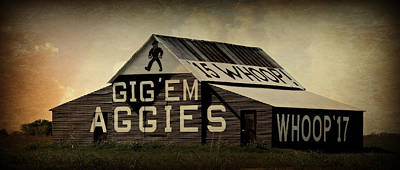 Aggie Barn 5 - Whoop Poster by Stephen Stookey