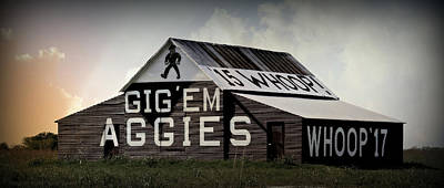 Aggie Barn 6 - Whoop Poster by Stephen Stookey