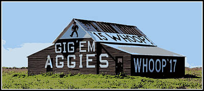 Aggie Barn II Poster by Stephen Stookey