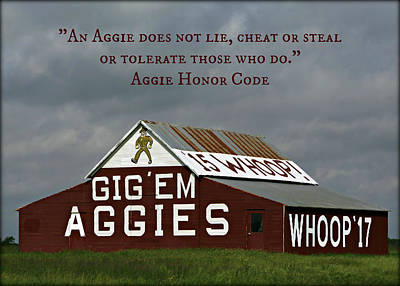 Aggie Honor Poster by Stephen Stookey