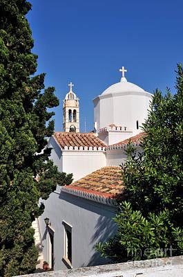 Agios Nikolaos Church In Spetses Town Poster by George Atsametakis