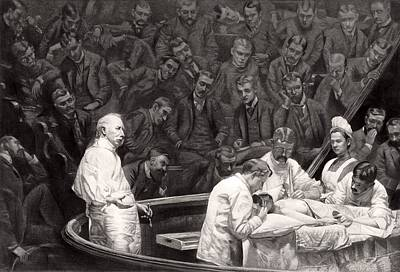 Agnew's Surgical Clinic, 1889 Poster by Science Photo Library