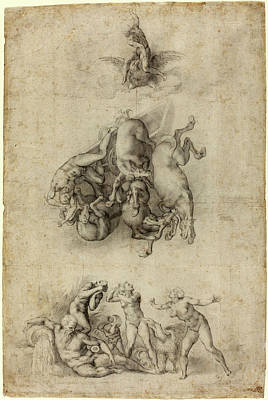 Agnolo Bronzino Or Giulio Clovio After Michelangelo Poster by Litz Collection