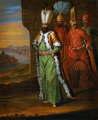 Ahmed IIi And His Retinue Poster