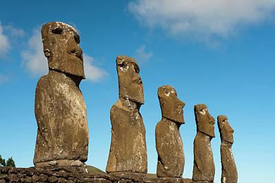 Ahu Akivi, Rapa Nui, Easter Island Poster