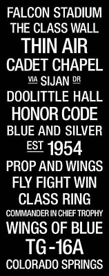 Air Force College Town Wall Art Poster