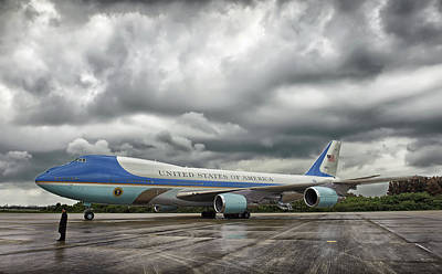 Air Force One Poster by Mountain Dreams