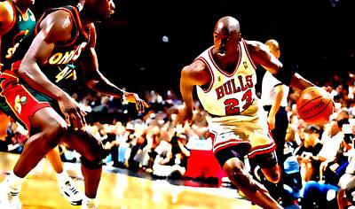Air Jordan And Shawn Kemp Poster