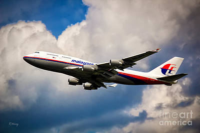 Malaysia Airlines B-747-400 Poster by Rene Triay Photography