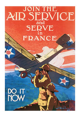 Air Service  Vintage Ww1 Art  Poster by Presented By American Classic Art