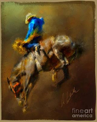 Airborne Cowboy Poster
