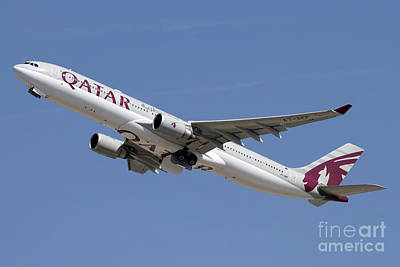Airbus A330-300 Of Qatar Airways Poster by Luca Nicolotti