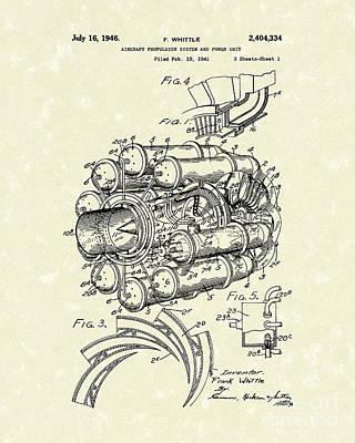 Aircraft Propulsion 1946 Patent Art Poster