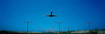 Airplane Landing Philadelphia Poster by Panoramic Images