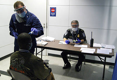Airport Ebola Screening Poster by Us Border Control