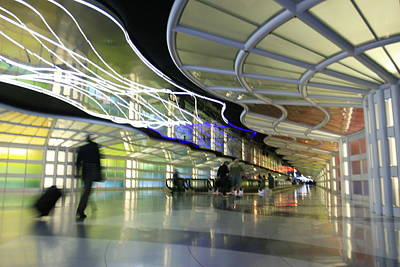 Poster featuring the photograph Airport Rush by Kate Purdy