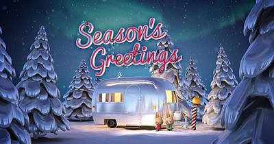 Airstream Greeting Card Poster