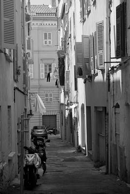 Ajaccio Back Alley Poster