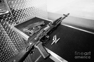 Ak47 Assault Rifle Magazine And Ammunition At A Gun Range In Las Vegas Nevada Usa Poster