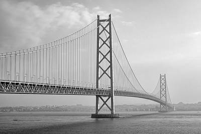 Akashi Kaikyo Bridge Monochrome Poster