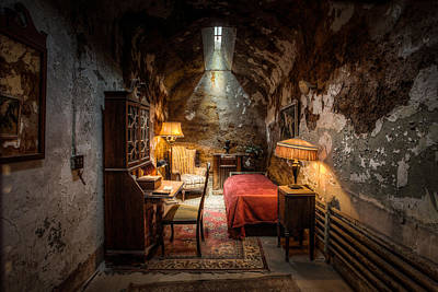Poster featuring the photograph Al Capone's Cell - Historical Ruins At Eastern State Penitentiary - Gary Heller by Gary Heller
