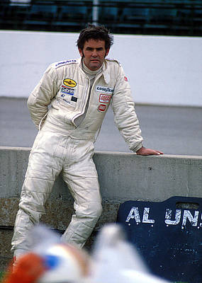 Al Unser At Indy Poster
