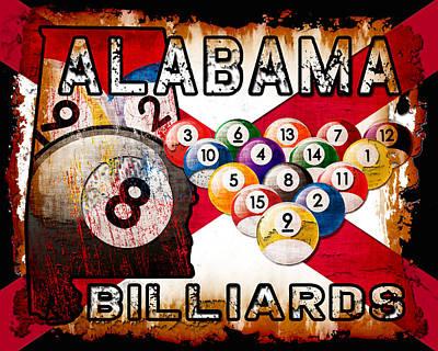 Alabama Billiards Poster