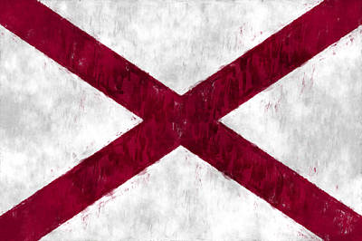 Alabama Flag Poster by World Art Prints And Designs