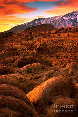 Alabama Hills Dawn Poster by Inge Johnsson