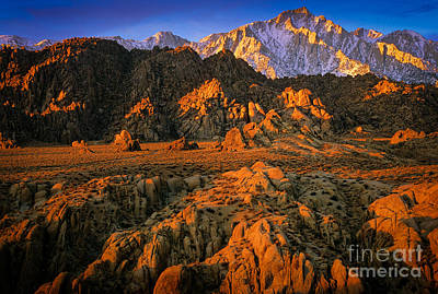 Alabama Hills Poster by Inge Johnsson