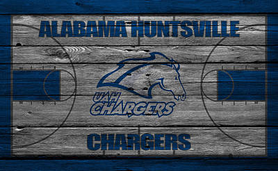 Alabama Huntsville Chargers Poster by Joe Hamilton