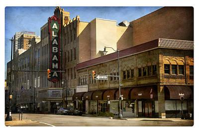 Poster featuring the photograph Alabama Theatre by Davina Washington
