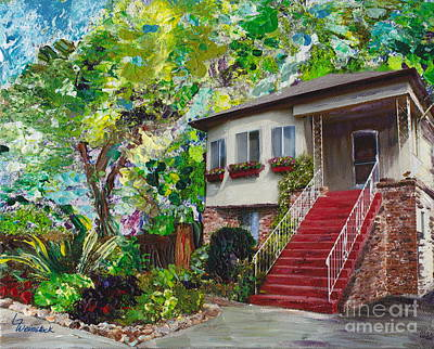 Poster featuring the painting Alameda 1908 Duplex by Linda Weinstock