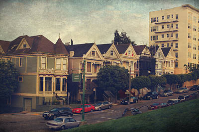 Alamo Square Poster by Laurie Search