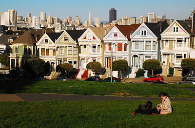 Poster featuring the photograph Alamo Square San Francisco by James Kirkikis