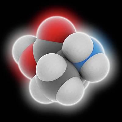 Alanine Molecule Poster by Laguna Design