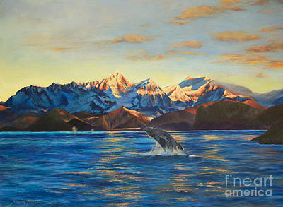 Poster featuring the painting Alaska Dawn by Jeanette French