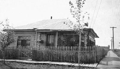 Alaska Log Cabin Poster