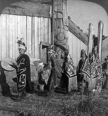 Alaska Potlatch Dancers Poster by Granger