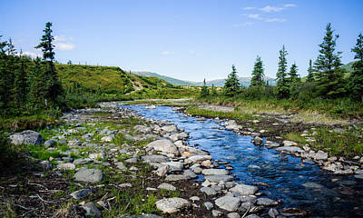 Alaska Stream Poster by Jen Morrison