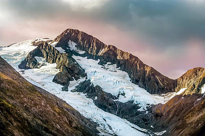 Alaskan Mountain Glacier Poster