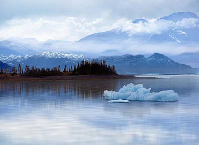 Poster featuring the digital art Alaskan Mountain Side by Nina Bradica