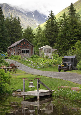 Alaskan Pioneer Mining Camp Poster