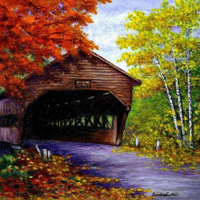 Poster featuring the painting Albany Covered Bridge by Sandra Estes
